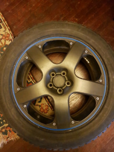 """17"""" Alloy rims with winter 225/50 R 17 tires 5x100"""