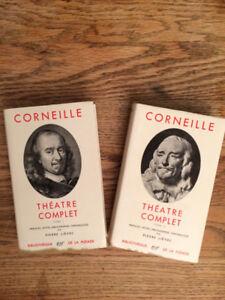 Corneille, théâtre complet, tome I et tome II