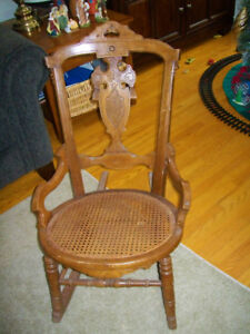 SMALL ROCKING CHAIR with detail carvings 905-442-2000-Ajax