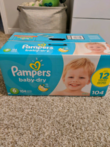 Pampers Baby Dry Size 6 - 104 Count - 4 boxes available