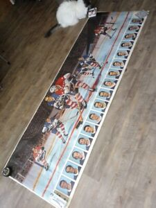 1971  post cereal hockey  poster