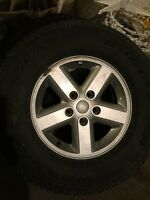 "Jeep JK 16"" rim and tire $80"