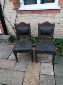 Antique chairs for refurbishment