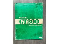 Suzuki GT 200 Original Motorcycle Service Manual