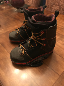 Byerly wakeboard boots, used twice size 11 (fits 9-12)