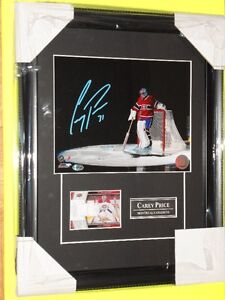 CAREY PRICE AUTOGRAPH FRAME