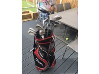 Full set of golf clubs and bag with cover excellent condtion