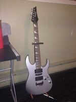 Ibanez guitar with stand like new