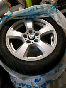 BMW WINTER MAGS/TIRES. 225 50R 17.