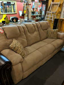 Sofa one side reclines