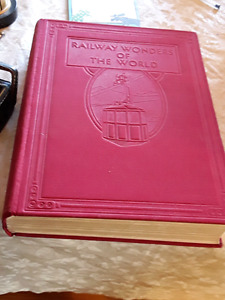 Antique book about trains
