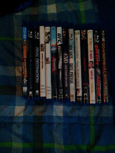 14 Blu ray movies action, comedy, romance, horror thriller.