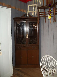 Solid Wood Corner China Cabinet