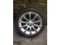 """Bmw 18"""" m5 replica alloy with tyre 5x120"""