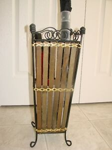 Umbrella Stand (Antique Wicker & Metal)