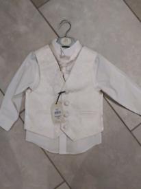 BNWT 18-24 month shirt, waistcoat and cravat set