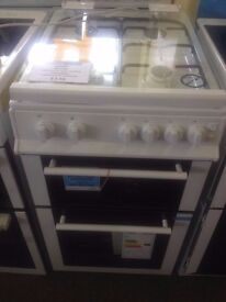 Graded belling twin cavity gas cooker