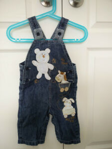 Baby Denim Overall (long), size: 9 months