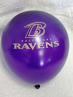 Baltimore Ravens NFL Football TEAM BALLOONS B-DAY PARTY 12 LATEX blow up New