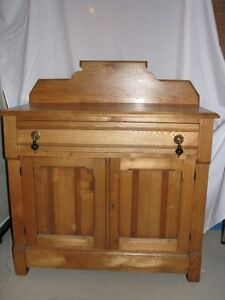 FOR SALE:  ANTIQUE SOLID WOOD HALL CHEST