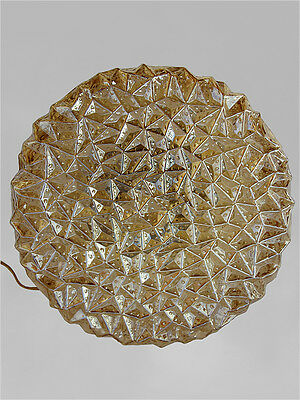 1960's GERMAN HELENA TYNELL LIMBURG AMBER GLASS TABLE LAMP MID-CENTURY EAMES ERA