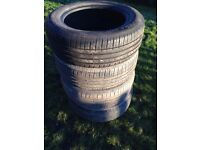 4 x tyres 235 60 16R 103H 7mm tread