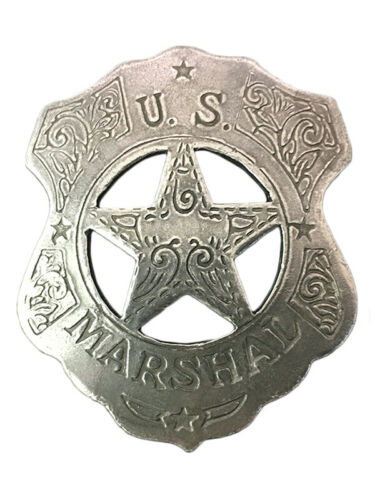 NWT Replica Badge - Old West - Made in the USA - U.S. Marshall Shield & Star