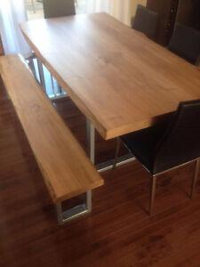 table à diner en bois fabriquer sur mesure West Island Greater Montréal image 8