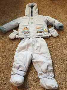 Blue Infant 2-Piece Snowsuit (Le Petit Rothschild)
