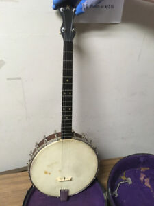 1920s Max Bell TENOR BANJO with case