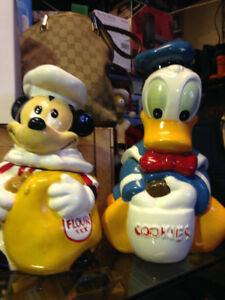 Mickey Mouse & Donald Duck Flour & Cookie Jars $49 each