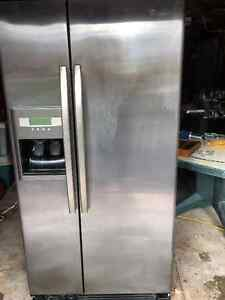 Whirlpool side by side fridge and freezer
