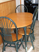 Dining table (solid wood) + 6 chairs