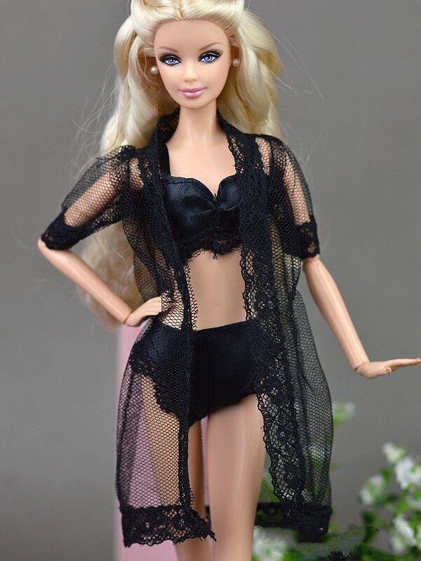 Doll Accessories Black Pajamas Lingerie Bra + Underwear Clot