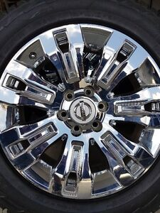 4 NISSAN RIMS WITH HANKOOK DYNAPRO TIRES 275/55/20
