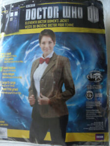 Womens Doctor Who BBC Costume jacket *With Fez* , size sm/med
