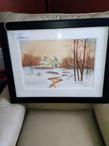 """""""Yellow House and Stream"""" by Sue Robinson - local artist"""