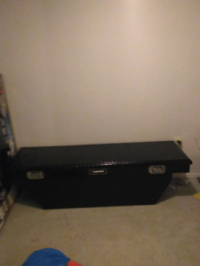 BLACK TRUCK TOOL BOX HUSKY TEXT ME AT 2265051526 FULL SIZE TRUCK