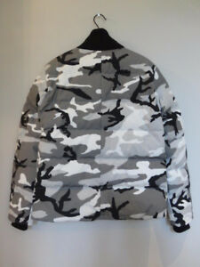 CANADA GOOSE: MEN'S WOOLFORD JACKET - BLACK/GREY CAMO (NEW)