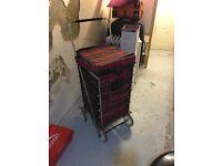 4 wheels shopping trolley