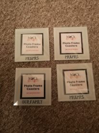Mr & Mrs / Our Family coasters x4 - BRAND NEW