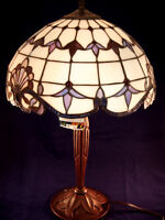 River of Goods Tiffany Inspired Style Table Lamp - Amber Ivory