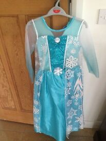 'Frozen' Elsa dressing up dress Age 8-9