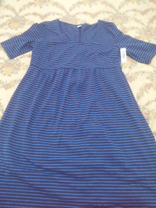 Brand new blue size medium maternity dress for $20.