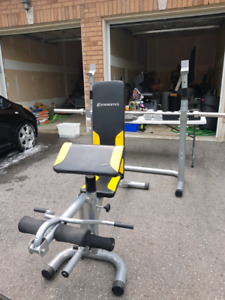 Full Workout Bench and Weights