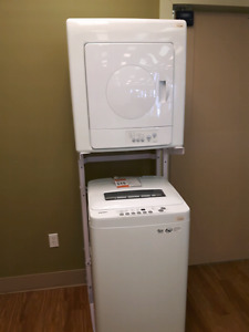 Compact washer/dryer with stand!