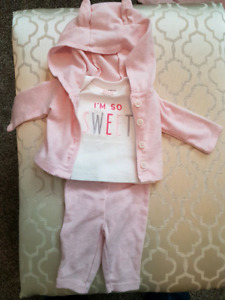 1 preemie girl outfit