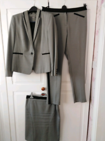 Ladies 3 piece Trouser and Skirt Suit Size 16