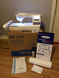 Brother PE-770 Computerized Embroidery/Sewing Machine