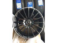Mercedes c63 style multi spoke a b c class amg alloy wheels 5112 also vag fit VW golf seat alloys
